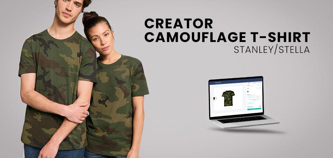 Neues Produkt: Organic Camouflage T-Shirt mit Stick